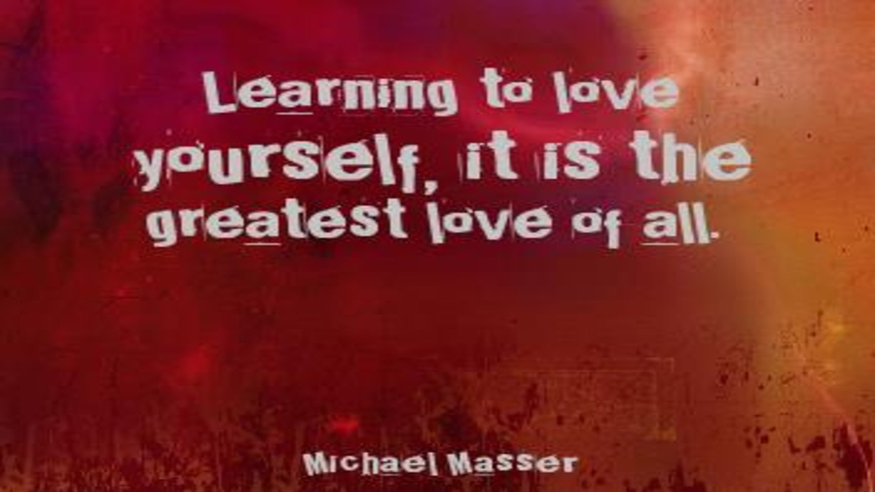 You are currently viewing THE GREATEST LOVE OF ALL